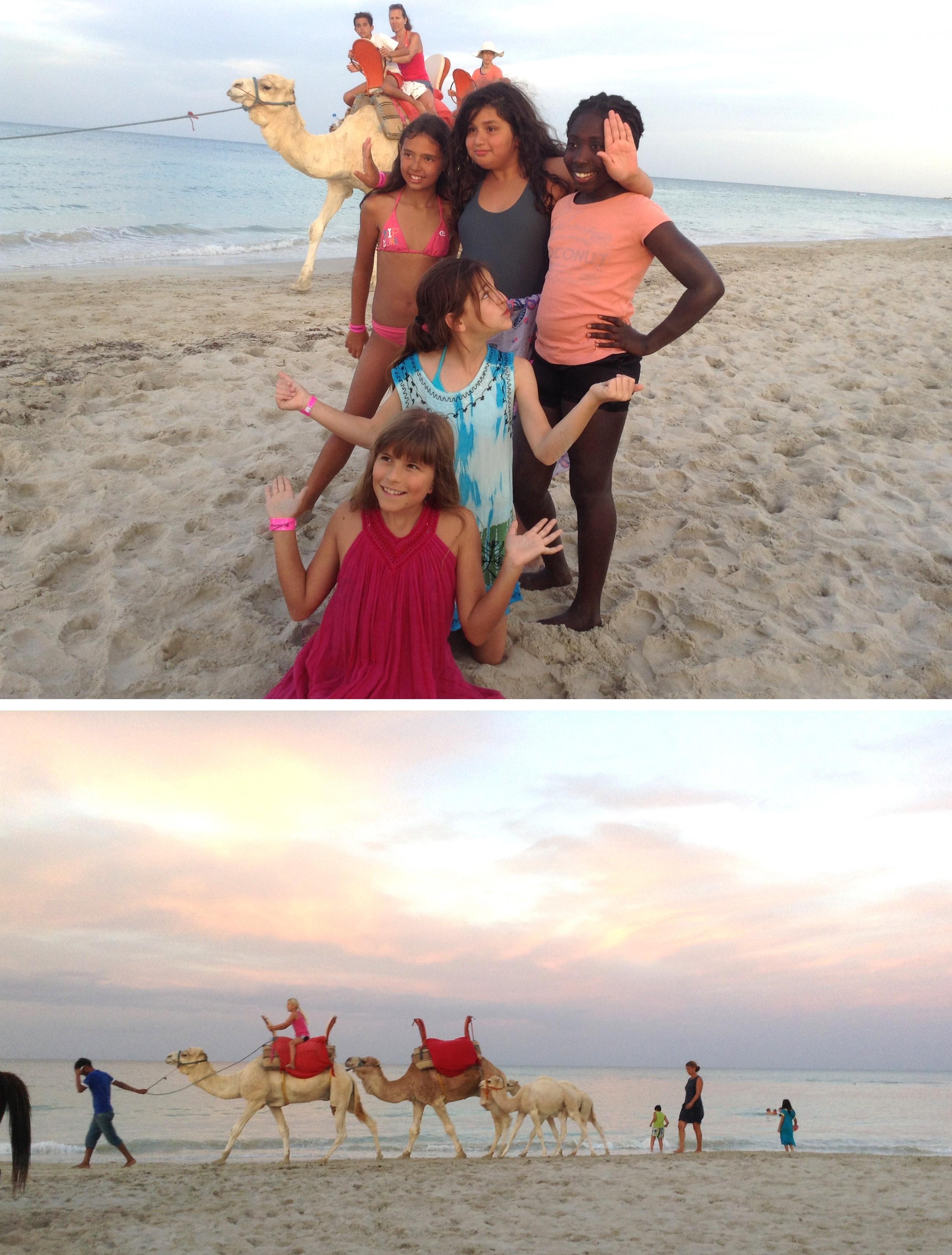 Enfants filles plages